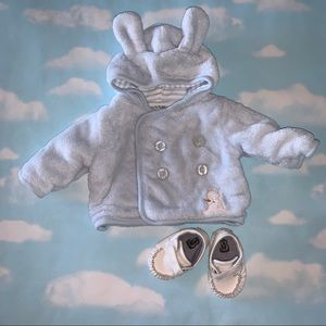 Bunnies By The Bay Plush Hoodie 0-3M